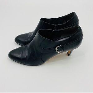 Cole Haan Nike Air Black Leather Heel Booties 11